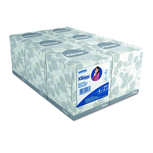 Kleenex 21271 White Facial Tissue, 2-Ply, Pop-Up Box, 95 sheets per box (Case of 6 Boxes) by Kleenex