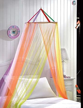 Heavenly Rainbow Fantasy Bed Canopy Girls Bedroom Decor [Kitchen] & Amazon.com: Heavenly Rainbow Fantasy Bed Canopy Girls Bedroom ...
