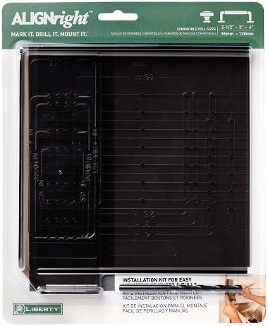 Liberty Align Right Standard Cabinet Door Hardware Installation Template