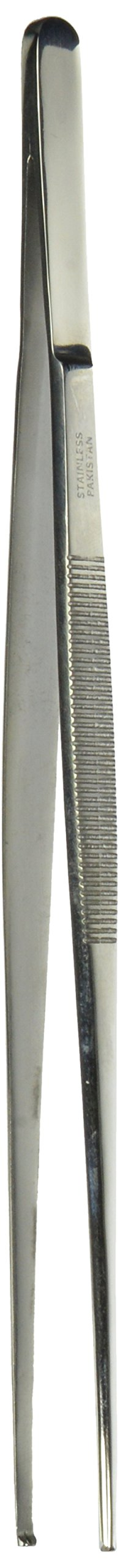 Tamsco Tissue Thumb Forceps 1 by 2 Teeth 10-Inch Stainless Steel Groove Handles 1 by 2 Teeth Medium Point by Tamsco