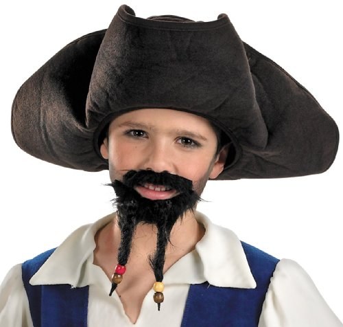 Jack Sparrow Beard (Disguise Inc Pirates of the Caribbean Pirate Hat, Moustache, and Goatee (Child))