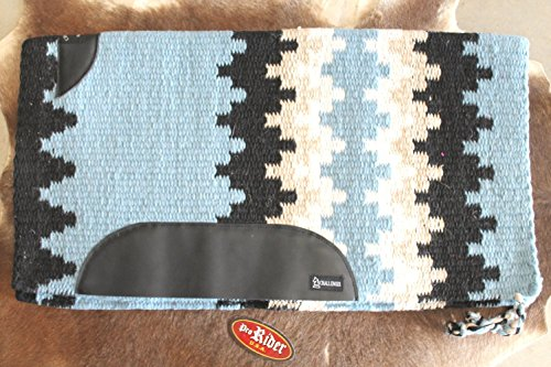 34x36 Horse Wool Western Show Trail SADDLE Pad Rodeo Ice Blue 3657C