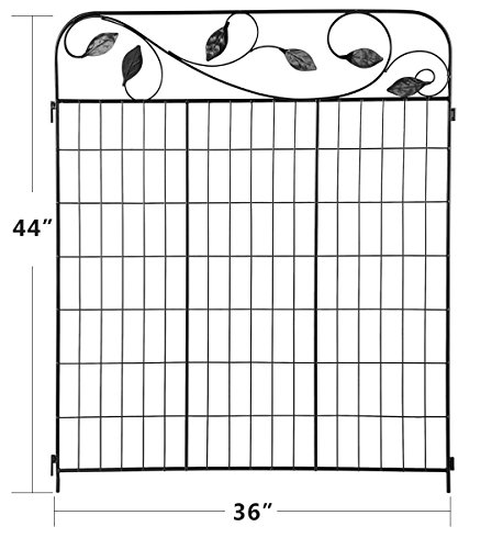 Wrought Iron Gates And Steel Barriers: Amagabeli Decorative Garden Fence 44in X 6ft Coated Metal