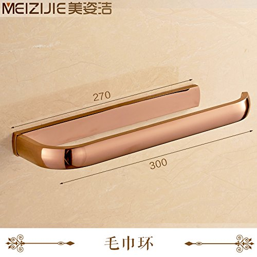 Yomiokla Bathroom Accessories - Kitchen, Toilet, Balcony and Bathroom Metal Towel Ring Copper Double bar Towel Copper Deluxe air-ins