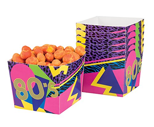 6 Pack Of 80's Party Tableware Snack Size Paper Bowls]()