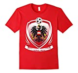 Mens Team Austrian soccer Shirt 2XL Red