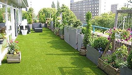 DIN 53387 Florh/öhe 30 mm Kunstrasen Rasenteppich Corfu f/ür Garten 2350 g//m/² - 2,00 m x 4,00 m Gewicht ca Rollrasen UV-Garantie 12 Jahre Kunststoffrasen
