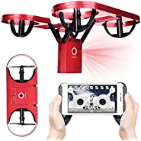 Hot Sales Memela(TM) TY6 Drone 720P HD Camera Foldable Pressure Altitude Hold G-sensor Headless Mode 2.4G 4CH 6 Axis Quadcopter (Red)