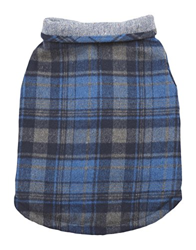 Fashion Pet Outdoor Dog Tweed Coat, Medium, Blue