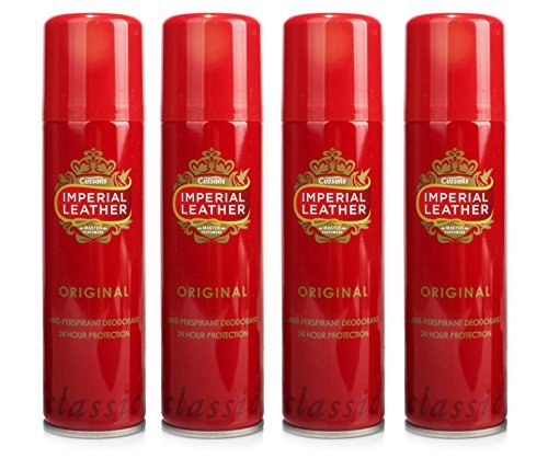- 4X IMPERIAL LEATHER ORIGINAL MENS ANTI-PERSPIRANT DEODORANT SPRAY 150ML by Imperial Leather
