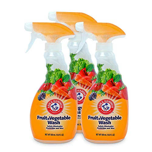 Arm & Hammer Fruit & Vegetable Wash, Produce Wash, Produce Cleaner, 16.9oz Spray, Pack of 3 (Fit Fruit And Vegetable Wash)