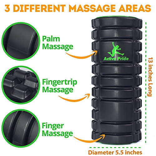 Foam Roller Exercise Foam Roller Massage Roller Set for Muscles + free Jumping Rope & Resistance Loop Band