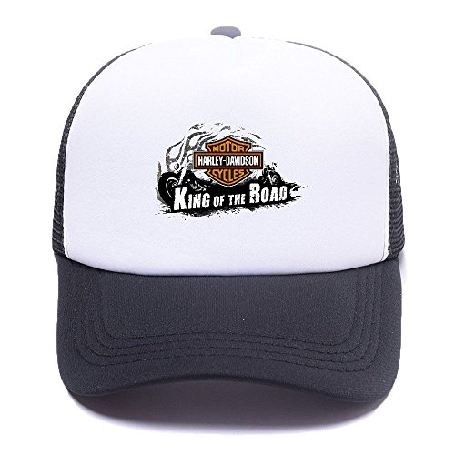 Harley D Black Baseball Caps Gorras de béisbol Trucker Hat Mesh Cap For Men Women Boy Girl 005 Black