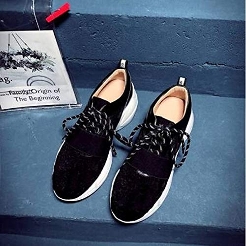 Closed Zapatos Sneakers Comfort Black Black Summer Nappa Leather Toe Flat ZHZNVX Spring Mujer Heel Red de BwdPq4P