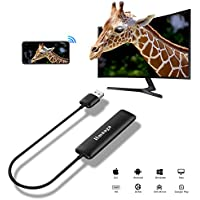 5G WiFi Display Dongle, Zenic Smart phone to HDMI Adapter, Full HD 1080P Screen Mirroring Wireless HDMI Display Adapter Supports Miracast/Airplay/DLNA