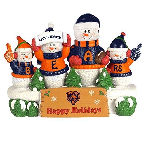 Chicago Bears Resin Snowman Bench