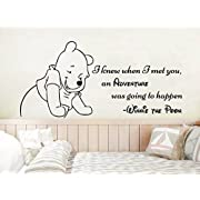 Classic Winnie The Pooh Wall Decals Quotes I Knew When I Met You an Adventure Vinyl Sticker Decal Nursery Baby Room Decor NS1115 (18  Tall x 38  Wide)