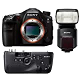 Sony SLT A99 hard bundle with A99 Grip and HVLF60M flash