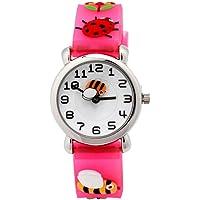 Hemobllo Children Watch - 3D Lovely Cartoon Bee Watch Quartz Watch Children Toddler Time Teacher Wrist Watch Gift for Girls Boys Kids