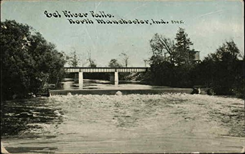 Eel River Falls North Manchester, Indiana Original Vintage Postcard