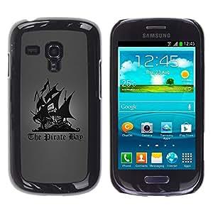 TopCaseStore / la caja del caucho duro de la cubierta de protección de la piel - The Pirate Bay - Samsung Galaxy S3 MINI NOT REGULAR! I8190 I8190N