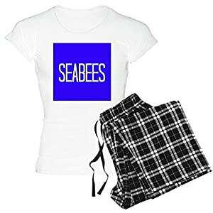 CafePress - Seabees Pajamas - Womens Novelty Cotton Pajama Set, Comfortable PJ Sleepwear by CafePress