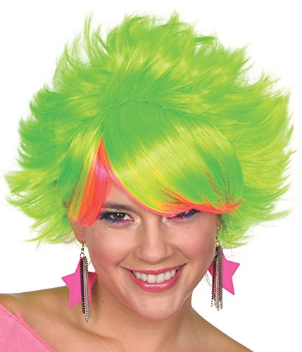 Rubie's Women's 80's Pop Adult Lime Wig, Lime, One Size