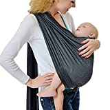Baby Water Ring Sling and Wrap Carrier for Infant, Newborn Comfort & Toddler, Breathable Quick Dry Mesh Fabric, Adjustable, Perfect for Summer, Pool, Beach & Shower Gray