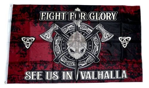 Fahne//Flagge Wikinger Fight for Glory Valhalla 90 x 150 cm
