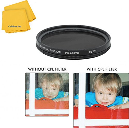 49mm Circular Polarizer Multi-Coated Filter for Panasonic HC-X900M Cameras