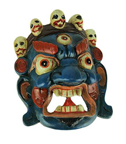 (Things2Die4 Nepalese Mahakala Tibetan Buddhism Wooden Wall Mask )