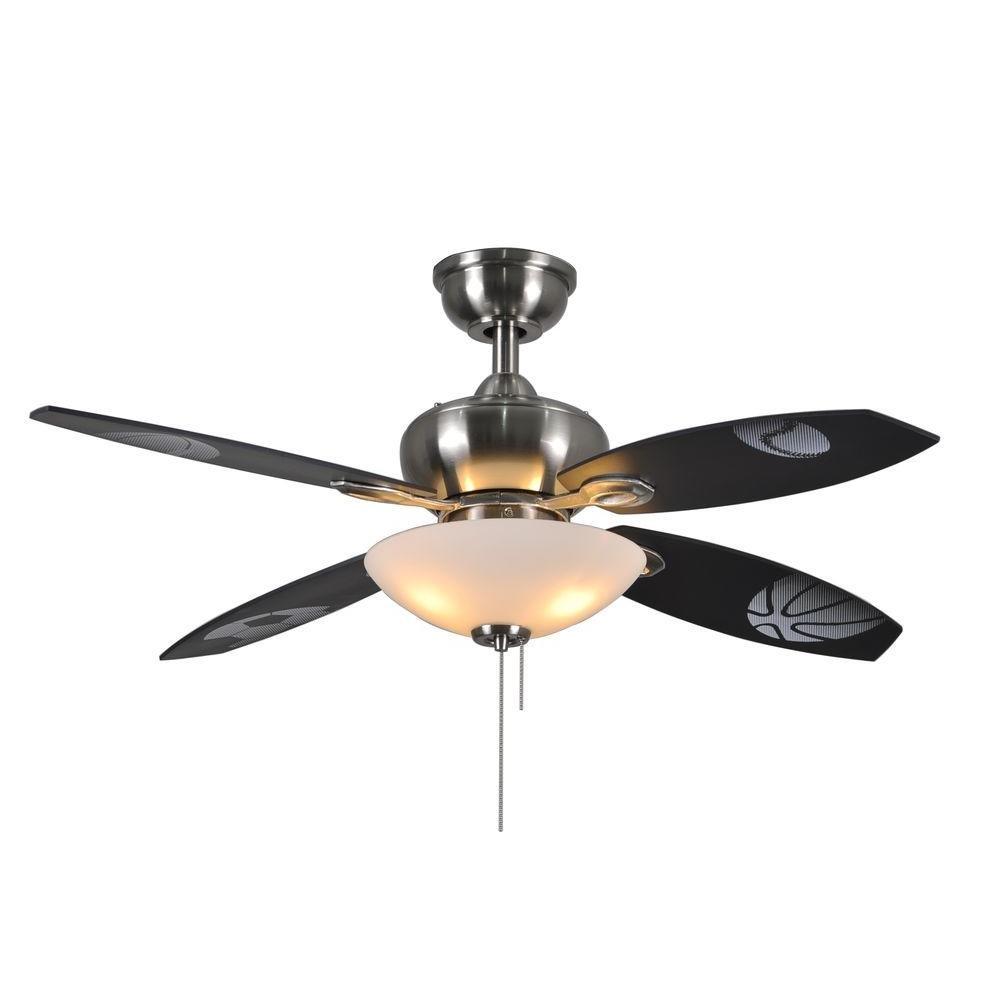 Hampton Bay Everstar II 44 in. Indoor Brushed Nickel Ceiling Fan with Light Kit