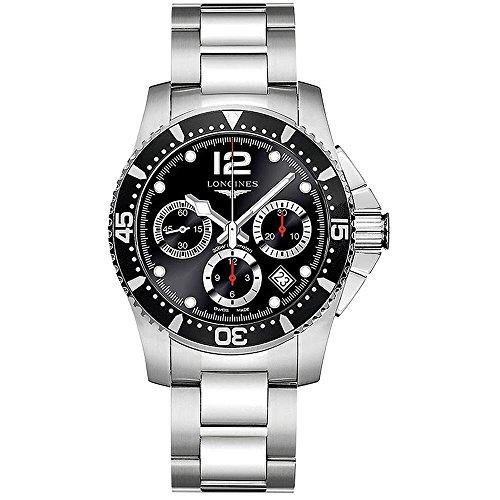 - Longines HydroConquest - L3.744.4.56.6 - Divers Chronograph Black Dial Automatic Men's