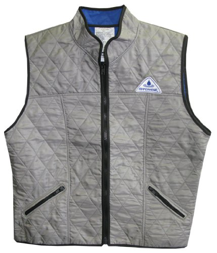 Deluxe Cooling Sport Vest - Female - High Collar - SILVER- MEDIUM