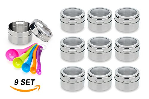 Stainless Steel Magnetic Spice Jars product image