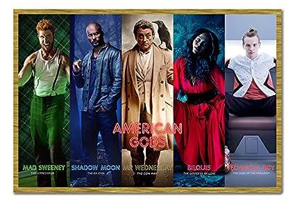 amazon com american gods collage poster cork pin memo board oak