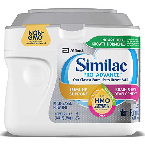 Similac Pro-Advance Non-GMO Infant Formula with Iron, with 2'-FL HMO, for Immune Support, Baby Formula, Powder, 23.2 Ounce (Difference Between Similac Advance And Go And Grow)