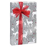 Woodland Frost Holiday Gift Wrap Roll - 24 Inches x 417 Feet Long (2 Rolls)