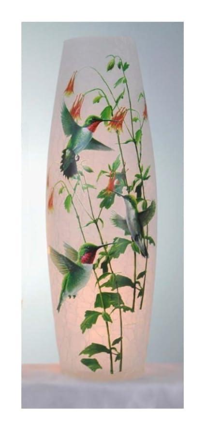 Amazon Stony Creek 12 Tall Lighted Glass Vase Hummingbirds