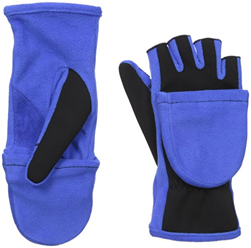 Convertible Flip Gloves Mittens (Isotoner Women's Flip Top Gloves with Convertible Thumb, Blue Spark, One)