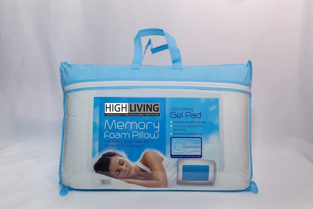 涼しい睡眠の夜の整形外科の慰めのための高リビングの記憶泡の冷却の枕ゲルのパッド B07CYVH9LJ