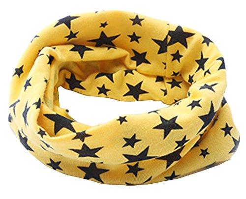 TheWin Children Warmer Star Scarf, Yellow