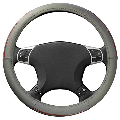 [해외]15 인치 스티어링 휠 커버 - 정품 가죽 커버 by bogo 브랜드/15 Inch Steering Wheel Cover - Genuine Leather Covers by bogo Brands