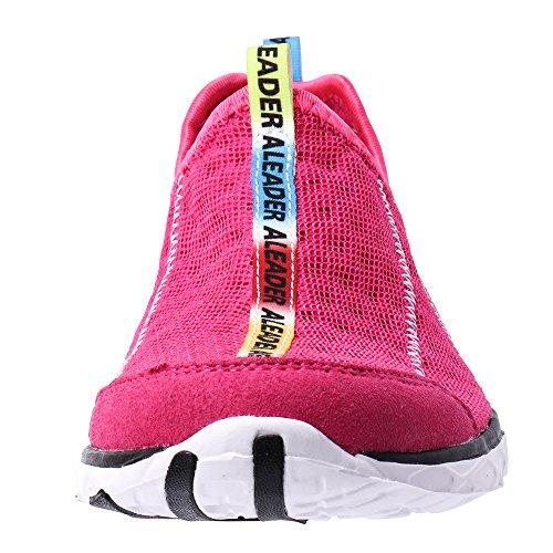 ALEADER Frauen Mesh Slip On Water Schuhe rot