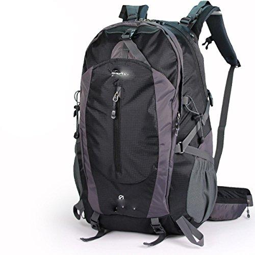 50L Outdoor Mountaineering Bolso Hombres Y Mujeres Bolsa De Hombro Viaje Pareja Mochila De Paseo,Blue Black