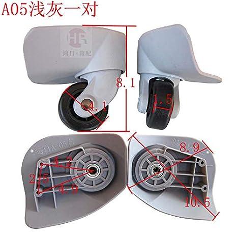 Amazon.com: 1 par de ruedas de repuesto para equipaje A05 ...