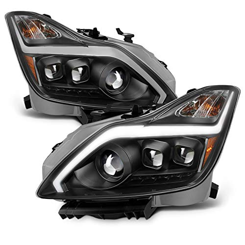 For 2008-2015 G37 / Q60 Coupe New Exclusive LED Sequential LED Signal Tube Projector Headlights ()