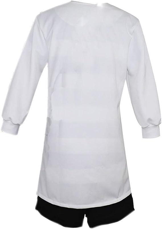 YKJ Traje de Cosplay de Anime Bata Blanca y Camisa Blanca y Negra Traje de Fiesta Conjunto Completo, Full Set-L: Amazon.es: Hogar