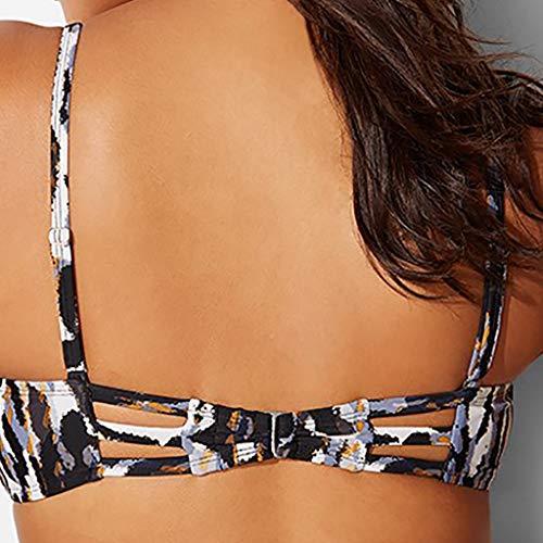 SFE-Women-Bikini Set Solid Two Piece Swimsuit Filled Bra Swimwear Beachwear Swimsuit for Women Black rash guard target 4