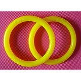 ★KiumiBaby★ ベビースリング用リング 2本セット ナイロン製  6色・黄色